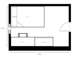 2 bedroom standard apartment share-Floor1