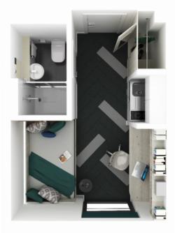 Standard Studio Floorplan